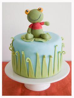 Pastel sapo pepe Frog cake