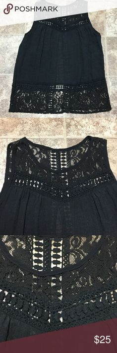 Free People Lace and Crochet Tank Shirt Large NWOT Free People Lace and Crochet Tank Shirt Large NWOT Free People Tops Tank Tops