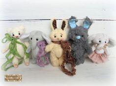 Artist toy 3.1 Teddy bunny Teddy elephant Teddy by SovushkaDolls