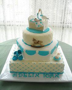 lissa: Tort de botez cu barza