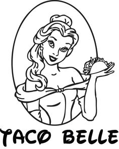 Disney Princess Beauty and the Beast Taco Bell Parody Belle Funny Decal Sticker FREE SHIPPING! www.stick-e-decals.com
