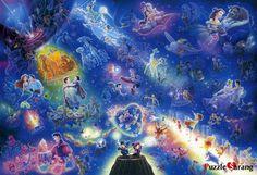 """Tenyo 2000 Pieces Disney Jigsaw puzzles """"Disney in Space"""" Disney Wiki, Disney Magic, Disney Movies, Disney Stuff, Disney Dogs, Disney Mickey, Disney Pixar, Disney Couples, Walt Disney"""