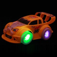 Smart Electric Automatic Steering Flashing Music Racing hot wheels cars toys children kids toys For Boys