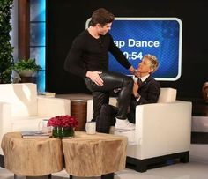 Zac Efron gave show host Ellen DeGeneres a lap dance during his appearance on her show — watch what went down!