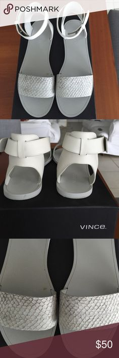 Vince Vince Sawyer sandals😍 minor stains on sole as seen in pic. In great condition❤️ . Fits a size 9😊 Vince Shoes Flats & Loafers