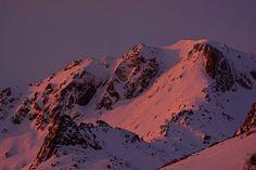 Massif du Monte Rinosu, (Renosu ou Renoso) - Vue hivernale de la face est du Monte Renoso depuis les hauteurs de la station de ski de Ghisoni-Capannelle