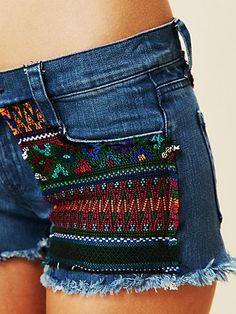 Aztec mexican frayed distressed cutoff shorts, perfect for the summer!