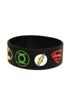 DC Comics Justice League Rubber Bracelet | Hot Topic