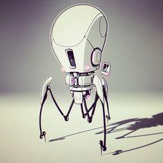 #BOTOBER 13-014 'Nano Drone' .0006 microns tall. Future medicine #robotsalldaylong #creativelife