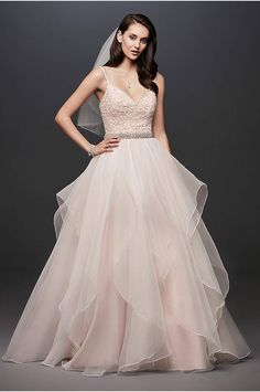 932fd0ab6fc Garza Ball Gown Wedding Dress with Double Straps - This Garza ball gown  features an encrusted