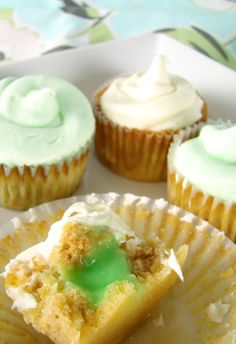 key lime pudding filled cupcakes