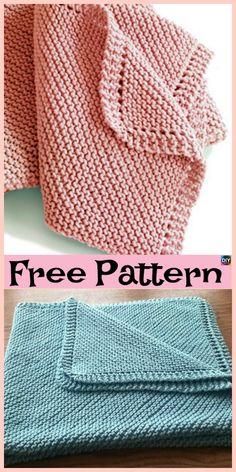 10 Easiest Knit Baby Blanket Free Patterns #freeknittingpattern #blanket #babygift