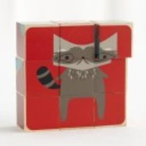 Kids Puzzle: Crowded Teeth Animal Wooden Blocks in Nod Exclusives | The Land of Nod
