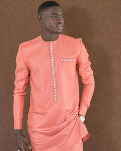 Call, SMS or WhatsApp if you want this style, needs a skilled tailor to hire or you want to expand more on your fashion business. African Shirts For Men, African Dresses Men, African Attire For Men, African Clothing For Men, Nigerian Men Fashion, African Men Fashion, Mens Fashion, African Wear Designs, Ankara Designs