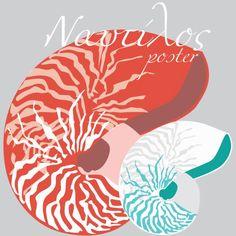 Ναυτίλος δωρεάν πόστερ Nautilus free printable