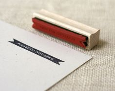 Rubber Stamp - Please Do Not Bend (reverse) via Etsy.