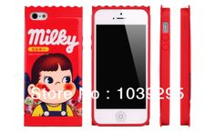 Peko caramel phone shell protective case for iphone4G iphone5G Lovers Candy silicone mobile phone sets $11.11