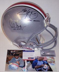 Archie Griffin   Eddie George - Official Full Size Riddell Authentic  Proline Football Helmet - Ohio State - PSA DNA 9804644f5