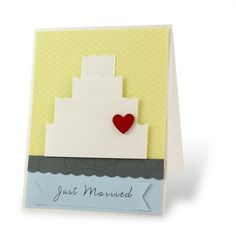Just Married Shine #Scrapbooking Card from Creative Memories #wedding    http://www.creativememories.com