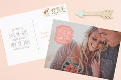 Save the Date, Postcard, Magnet or Email | Love vs Design