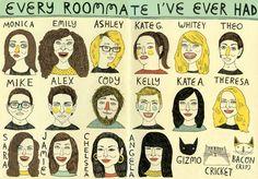 Every Roommate I've Ever Had by Allison Kerek.