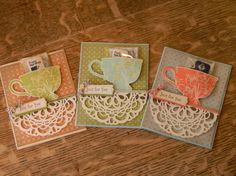 The Serene Stamper: Tea Shoppe Tea Favors, Coffee Cards, Pocket Cards, Scrapbooking, Get Well Cards, Handmade Birthday Cards, Paper Cards, Alice, Stampin Up Cards