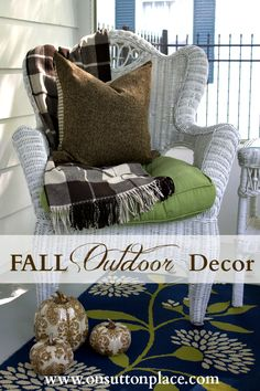 Tips and ideas for fall outdoor decor that will cozy up your space and add a touch of autumn.