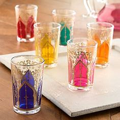 Moroccan Medina Tea Glasses.  Use for tea, candle holders, bud vases, etc.