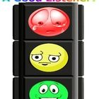 This is a Traffic Light Behavior Chart with faces!  You cut it out and laminate it.  The get wooden clothes pins, write the students' names on them...