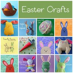 Easter crafts - easy (and sometimes free!) sewing, quilting and embroidery patterns from Shiny Happy World
