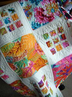what a great way to use those beautiful fabrics you don't want to cut up. quilt by thiscreativebliss.