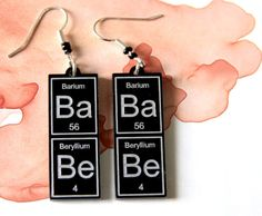 BaBe   periodic table earrings