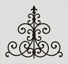 Wrought Iron Fleur De Lis Stencil 10  Wall by oklahomastencil, $8.95