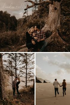 Sunset Oregon Coast Engagement Session at Hug Point State Park in Cannon Beach, Oregon with Noelle and Ryan Emotional Photography, Photography Words, People Photography, Beach Engagement Photos, Engagement Photography, Engagement Session, Wedding Photography, Creative Couples Photography, Spring Photos