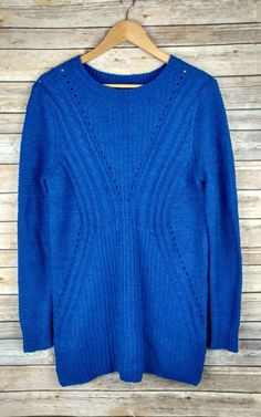 Adidas Women's Cable Knit Sweater Light Blue White V Neck Sz Small ...