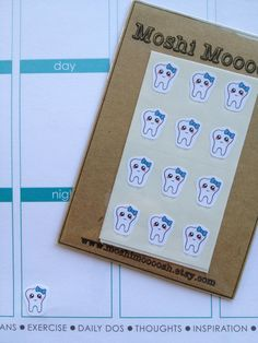 Happy Tooth  pack of 24 by MoshiMoooosh on Etsy