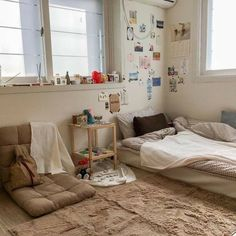 Room Design Bedroom, Small Room Bedroom, Room Ideas Bedroom, Bedroom Decor, Korean Bedroom Ideas, Cozy Small Bedrooms, Bedroom Bed, Japanese Bedroom, Appartement Design