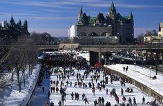 Skating on the Rideau Canal, Ottawa, Canada