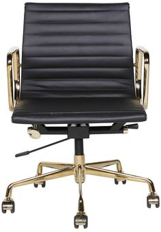 Nash Swivel Desk Chair Leather Caramel  Brown leather chairs