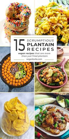 15 plantain recipes that are not just fried plantain Vegan Plantain Recipe, Green Plantain Recipes, Vegetarian Types, Vegetarian Recipes, Vegetarian Dinners, Healthy Eating Recipes, Fruit Recipes, Dessert Recipes, Desserts