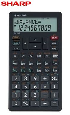 Sharp EL 738F Business Financial Calculator   A Perfect Companion for Tax Time   The Sharp EL738F with a Giveaway
