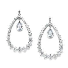 Mariell ~ Breathtaking Cubic Zirconia Bridal Hoop Earrings Mariell,http://www.amazon.com/dp/B00HFXPBAY/ref=cm_sw_r_pi_dp_ARBTsb1BSHXWADQN