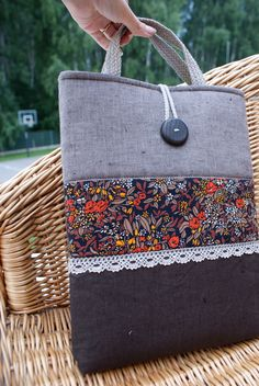 Laptop sleeve for 13 inch Macbook Ipad Bag, Denim Tote Bags, Mac Book, Patchwork Bags, Fabric Bags, Kids Bags, Handmade Bags, Laptop Bag, Sewing Hacks
