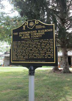 Underground Railroad Marker at Lyme Village