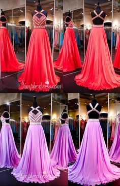 prom dresses 2016, long chiffon prom dresses with backless, evening dresses, party dresses
