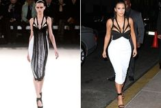 The plunging cut out Kardashian