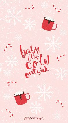 holiday wallpaper Free, Phone, Wallpaper, Freebie, Baby its Cold Outside Free Phone Wallpaper, Cute Wallpaper Backgrounds, Aesthetic Iphone Wallpaper, Of Wallpaper, New Year Wallpaper, Wallpaper Ideas, Fabric Wallpaper, Holiday Iphone Wallpaper, Cute Christmas Wallpaper
