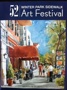 Winter Park Art Show - our groups have received an annual invitation to do this event since Our Three Flutes Only, Jazz Quartet and Paint It Black Quartet have been included on the WLOQ program. Festival Posters, Art Festival, Winter Park Florida, Sidewalk Art, Park Art, Florida Living, Watercolor Trees, Central Florida, Wonderful Images