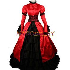 Online Shop 2015 Red Medieval dress for women adult Princess victorian Southern belle costume Ball Gown Gothic Lolita dress|Aliexpress Mobile