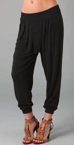 Harem Pants. I'm going to be sad when these are no longer in style. It's like permission to wear pj's to work. Love them.